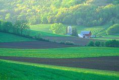 Cream Valley Wisconsin in Spring by Gerald Brimacombe, via geraldbrimacombe.com