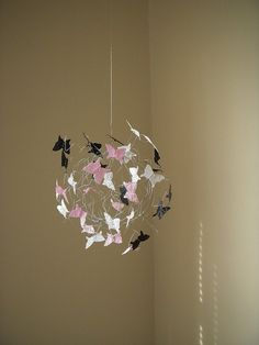 Butterfly mobile for O's room