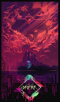 Hyper Light Drifter Wallpaper, Game Design, Framed Prints, Canvas Prints, Art Prints, Lighted Canvas, Cyberpunk Art, Indie Games, Illustrations
