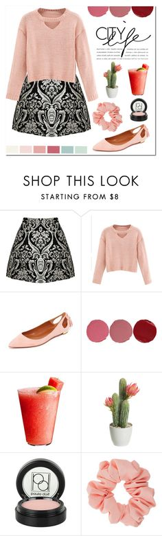 """""""City Style"""" by susy-v ❤ liked on Polyvore featuring Alice + Olivia, WithChic, Aquazzura, Charlotte Tilbury, Disney, Paula Dorf, Miss Selfridge, Seed Design and susyset"""