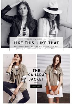 Madewell.com email design / photo direction