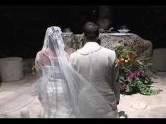 Wedding in Xcaret México. chapel (arrangement front, plain aisle) then la isla