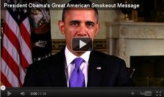 President Obama's Great American Smokeout Message