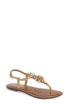 Sam Edelman 'Grayson' Crystal Flower Flat Sandal (Women) available at #Nordstrom