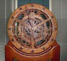 Wooden Gear Clock, Wooden Gears, Wood Clocks, Wooden Clock Plans, Woodworking Furniture Plans, Woodworking Projects That Sell, Woodworking Crafts, Woodworking Workshop, Woodworking Videos