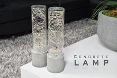 Make a lamp using concrete and led string lights. Litom Led String Lights…