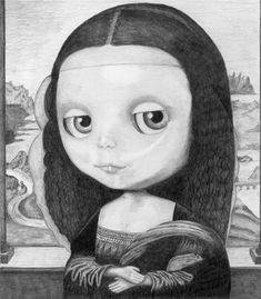 Blythe Mona Lisa - Limited Edition Print