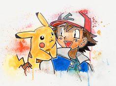 Ash and Pikachu by LukeFielding.deviantart.com on @DeviantArt