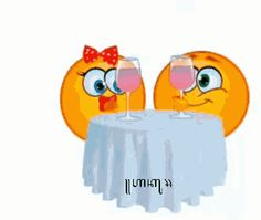 Emoji Cheers GIF - Emoji Cheers Date - Discover & Share GIFs Perfect Emoji, Animated Gif, Cheers, Gifs, Dating, Quotes, Presents