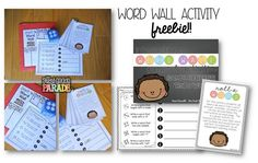 Fun activity for the word wall...would be perfect for an independent learning station, too!
