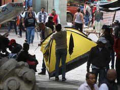 CNTE regresa a plantón en Oaxaca