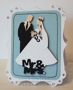 "cricut+divine+wedding | Couple"" of Wedding Themed Cards"