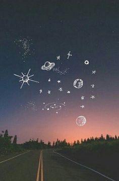 Imagen de sky, stars, and wallpaper