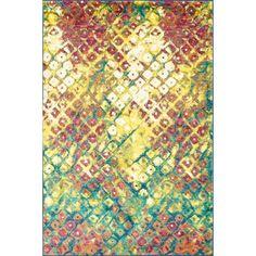 Skye Monet Multi Rug (5'2 x 7'7) | Overstock.com Shopping - Great Deals on Alexander Home 5x8 - 6x9 Rugs