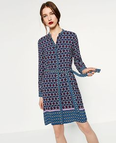 Image 2 of CONTRAST PRINT TUNIC from Zara