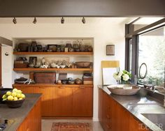A California Home With Asian Inspired Decor - ELLE DECOR. Nice drawer pulls/handles