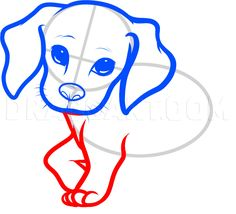 How To Draw A Beagle Puppy, Beagle Puppy, Step by Step, Drawing Guide, by Dawn | dragoart.com Puppy Drawing Easy, Beagle Puppy, Training Your Puppy, Cute Dogs And Puppies, Step By Step Drawing, Christmas Colors, Easy Drawings, Dog Breeds, Dawn