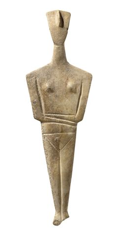 "Cycladic figure, part of The Field Museum's exhibition, ""The Greeks: From Agamemnon to Alexander the Great. Stone Sculpture, Modern Sculpture, Sculpture Art, Ancient Greek Art, Ancient Greece, Alexandre Le Grand, Field Museum, Art Premier, Greek Culture"
