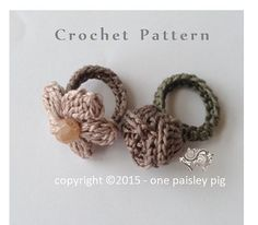 Ravelry: Daisy & Rose Flower Rings pattern by One Paisley Pig Crochet Puff Flower, Crochet Flower Tutorial, Crochet Flower Patterns, Crochet Flowers, Crochet Ideas, Quick Crochet Patterns, Diy Flowers, Crochet Crafts, Yarn Crafts