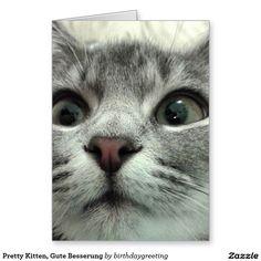 Pretty Kitten, Gute Besserung Stationery Note Card