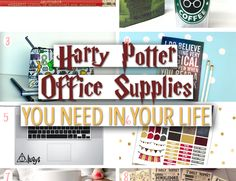 Harry Potter is quite possibly my favorite thing ever. Office supplies is a close second. Ever since I was little...