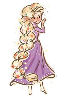 Cute Rapunzel drawing #disney #fanart #disneyfanart