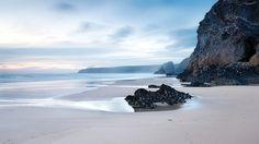 Bedruthan Steps  | #landscape #seascape #water #blue #brown #tan