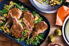 Pork with black bean and corn salsa - love the flavours! Pretty easy to make too!