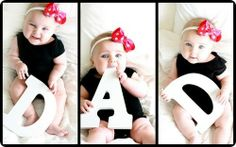 Block letter photography,  FAMILY four girls and two boys....perfect gift for grandma and grandpa.