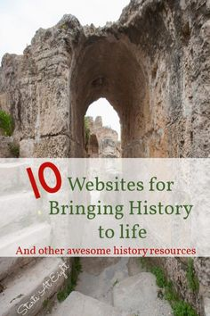 Here is a collection of websites for bringing history to life. Along with other engaging history resources such as historical fiction, fun with maps, and virtual field trips! These are sure to help kids be more engaged in their history studies! History Memes, Us History, History Facts, Ancient History, Family History, History Websites, British History, History Timeline, Study Websites