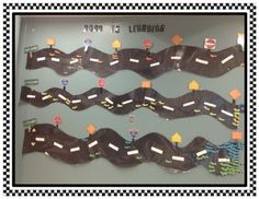 Cute tracking wall for kindergarten! A fun way to track students' progress with letter names/sounds/sight words!