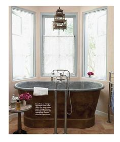 1860s French zinc-lined copper tub; Penelope Bianchi