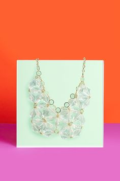 Clear Cut Collar Necklace