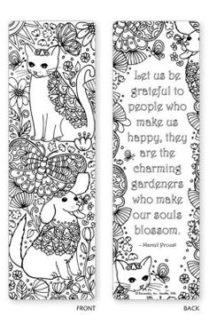 Alternative view 5 of Spring Garden Coloring Bookmarks - Set of 5