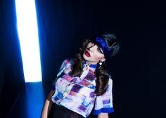 Eric Mansuell - Stanze meravigliose  Vincenzo Panico hair Mariangela Palatini mua, Valeria Gaetano style- #fashion #editorial #color #blue #minimal
