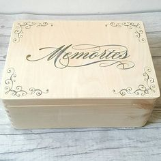 Check out this item in my Etsy shop https://www.etsy.com/uk/listing/521879149/memory-wooden-box-memories-box-keepsake