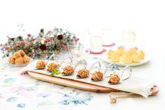 Bolas de queso azul y frutos secos, con miel Thermomix