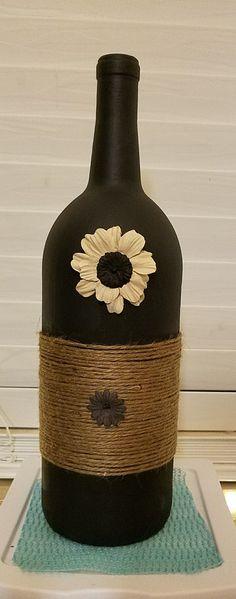 Wine Bottle craft #winebottlecrafts