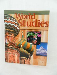Bob Jones World Studies 2nd Ed Student History, PB Like New, 7th grade #Textbook