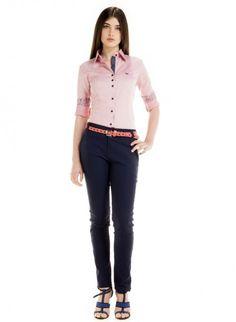 camisa feminina manga longa rosa maquinetado principessa carina look completo