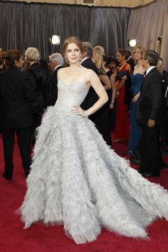 Amy Adams in Oscar de la Renta On the Red Carpet at the Oscars