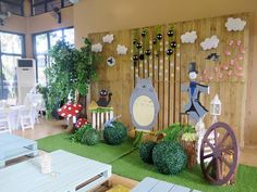 Sophie and Ethan's Studio Ghibli Themed Party - Stage Setup