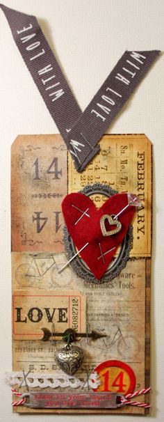 Bella's Scrappin' Space: Tim Holtz February tag for 12 tags of 2015