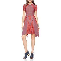Bcbgmaxazria Poppy Printed Dress ($190) ❤ liked on Polyvore featuring dresses, bright poppy combo, poppy dress, red dress, poppy red dress, bcbgmaxazria dress and poppy print dress