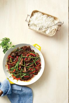 Stir-Fry Recipes: Garlicky Beef-and-Bean Stir-Fry