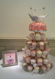 shabby chic weddings | Vintage Shabby Chic Wedding Cupcake Tower | Flickr - Photo Sharing!