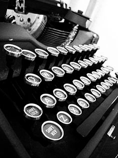 I began on a typewriter. Although I love my Pc, I'll always remember my typewriter with fondness. Always Remember Me, Vintage Typewriters, Vintage Suitcases, Vintage Luggage, Antique Typewriter, Black N White, Black Apple, Love Letters, Writing Inspiration