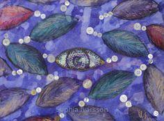 Nålsöga är 29,5x39 cm, målat i blandteknik, och kostar: 900 kr. Jag lekte med ordet nålsöga och färger och former inspirerad av knappar och roliga konstnärliga tekniker Former, Painting, Painting Art, Paintings, Painted Canvas, Drawings