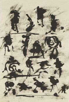 Henri Michaux - Sans titre Georges Mathieu, Henri Michaux, Word Symbols, Automatic Drawing, Thing 1, Western Art, Ink Art, Painting & Drawing, Images