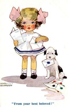illustr.quenalbertini: Vintage Agnes Richardson Card